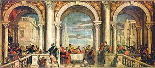 """Paolo Veronese, """"Cena a casa di Levi"""""""