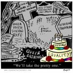 La libertà trans non ha riferimenti politici?